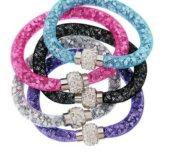 Новые браслеты сетка с кристаллами Swarovski