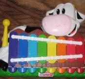 Ноутбук и ксилофон пианино fisher price
