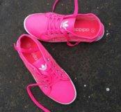 Кеды Adidas с сеткой розовые