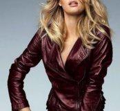 Новая стильная куртка- пиджак из натуральной кожи