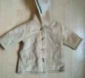 Дубленка для малышки куртка, пальто