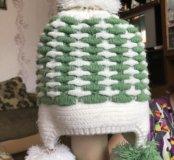 Детская шапка на 3-4 года