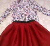 Юбка и блузка для девочки