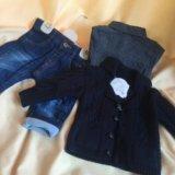 Джинсы, рубашка , кардиган