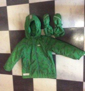 Reima куртка и варежки