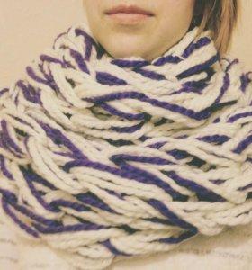 Бесконечный шарф из толстой пряжи