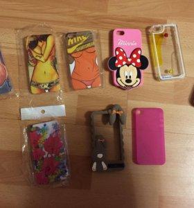 Чехлы на iPhone 4 и 5 новые, от 100 до 250 рублей