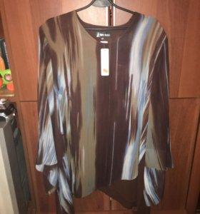 Блузки больших размеров( новые с этикетками)
