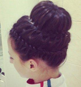 Укладка волос, плетение кос
