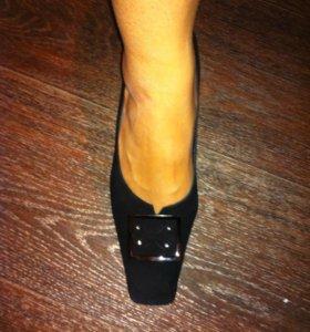 Туфли нат.замша👠