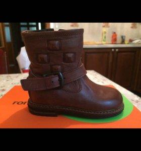 Новые детские ботинки зимние