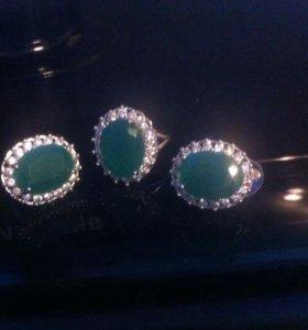 Роскошные кольцо и сережки!!!