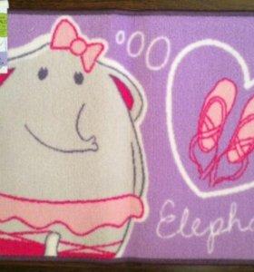 Коврик балерина слоник новый в детскую