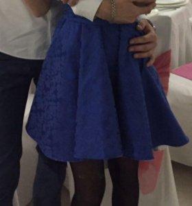 Шикарное синие платье