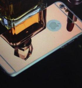 Чехол iPhone 6 Plus case силиконовый зеркальный