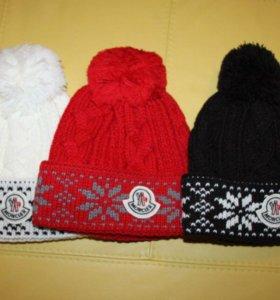 Новые тёплые шапочки moncler