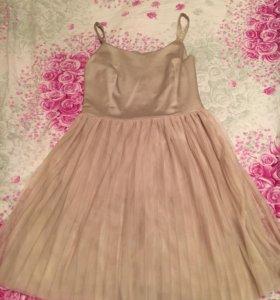 Платье бежевое или нюд