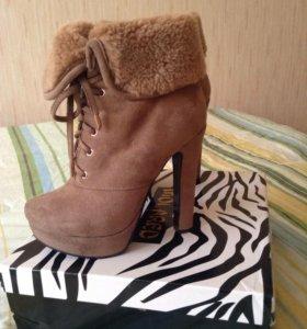 Зимние ботиночки 38 размер