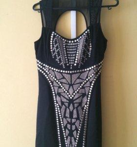 Коктельное чёрное платье