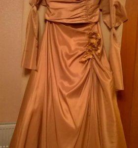 Платье вечернее р.48 (корсет+юбка+накидка)