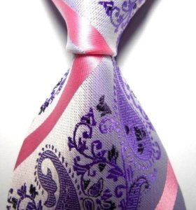 Красивый жаккардовый галстук