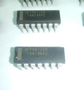 Микросхемы 74AC86PC