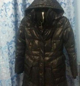 Пуховик пальто зима очень теплый наполнитель пух