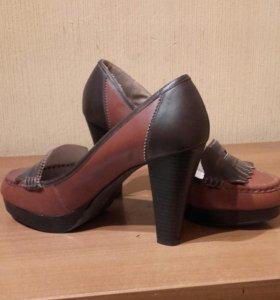 Туфли из натуральной кожи новые