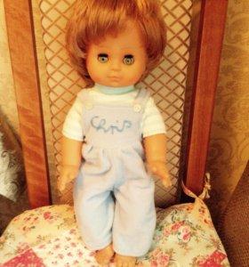 Кукла с волосами и закрывающ глазами 40см