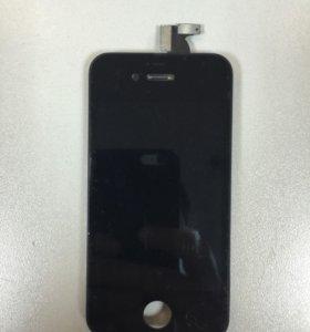 Дисплей iPhone 4s+тачскрин черный