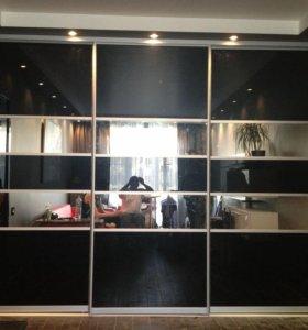 Шкафы-купе, гардеробные, кухни на заказ.