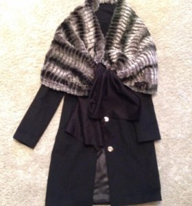 Пальто черное из кашемира