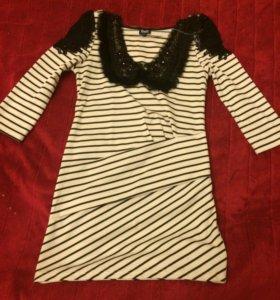 Коротенькое платье новое и воротник