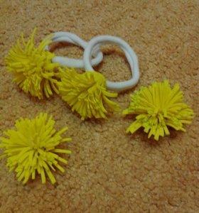 Резиночки-одуванчики из фоамирана