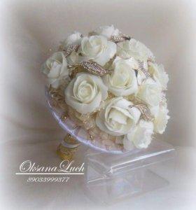 Брошь-букет свадебный