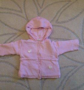 Детская курточка на пуговках на тёплую весну-осень