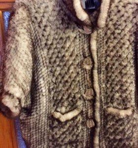 Курточка из вязаной норки.