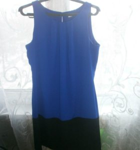 Платье синее 44р.