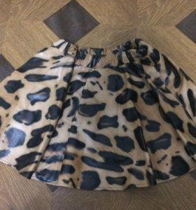 Новая юбка кожзам