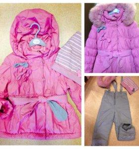 Пальто - пуховик на девочку ( зима и демисезон)