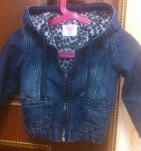 Детская джинсовая куртка с подкладом