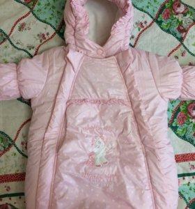 Детский зимний костюм для девочки. Размер 62