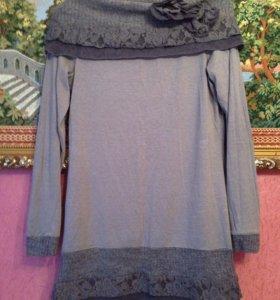 Платье-туника linea tesini 46 размер