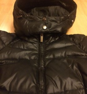 Чёрная куртка пуховик размер m(42-44)