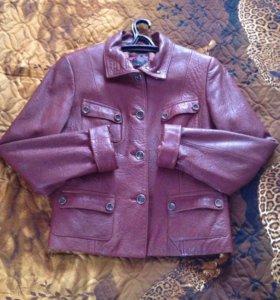 Куртка кожаная Весна - осень