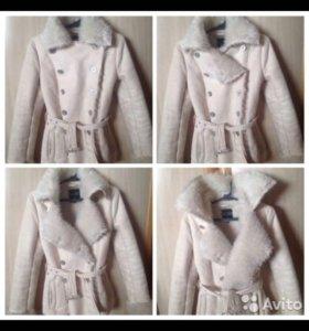 Дубленка куртка пальто размер 42