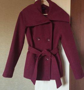 Пальто бордовое весна-осень