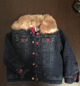Модная джинсовая куртка для девочки. 92см.