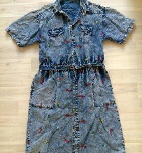 Винтажное платье 80-х 46-50