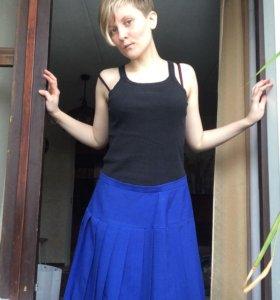 Винтажная плиссированная юбка